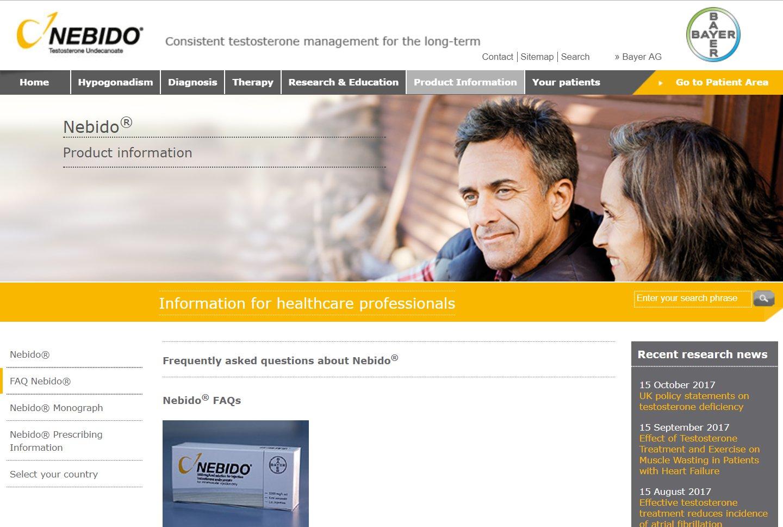 Nebido Website